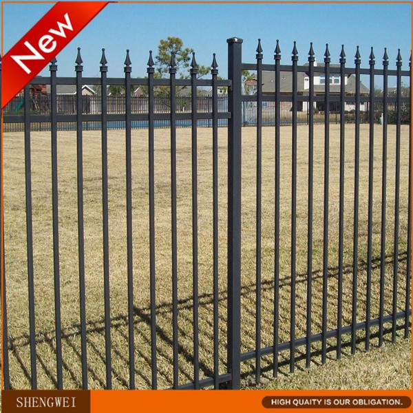 Modular powder coated metal fence panels(supplier)