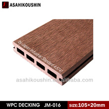 Soundproof Eco-friendly 105x20mm home and public decoration WPC Hollow decking flooring