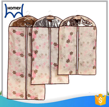 Custom print clutch hanging breathable packaging non woven fabric garment bag