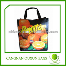 Stylish green spun shopping bag
