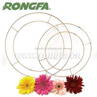 artificial 2 coils metal wire wreath rings