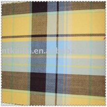 100% cotton twill check fabric