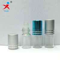 mini glass essential oil bottle with roll on the top