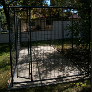 10' x 20' x 6' powder coated welded wire dog kennel