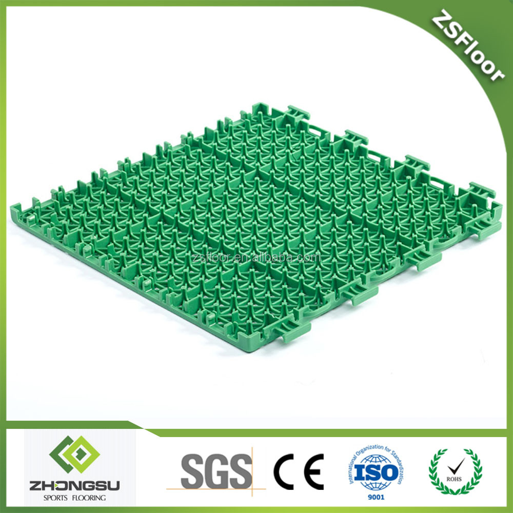 ZSFloor Hot Sale Multi-use modular tile Suspended Outdoor PP Interlocking Sports Tennis Flooring