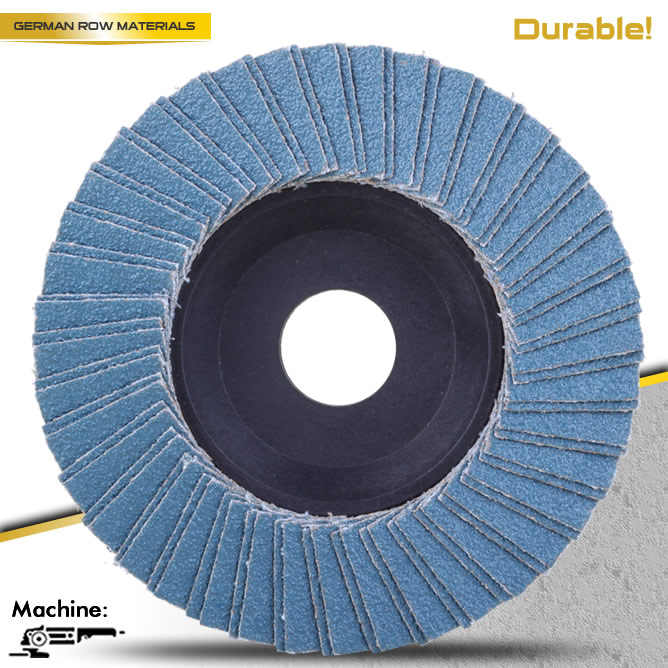"PACK 10 PREMIUM ZIRCONIA FLAP DISC SANDING GRINDING 4-1/2"" X 7/8"" 100 GRIT for Stainless Steel Surface Treatment"