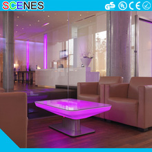 RBG color changeable battery rechargeable waterproof modern living room led table
