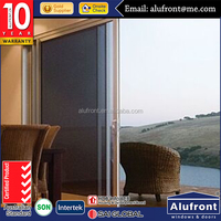 Australia standard AS2047 unbreakable custom color aluminium franme glass door