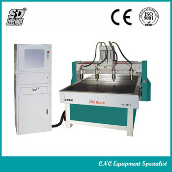 SD-1313 cnc carving machine with 4 heads for screen, wave plate