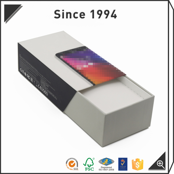 Custom gift rigid box packaging matte sliding drawer box