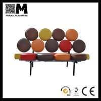 modern style hotel furniture creative design leather colorful sofa for sale