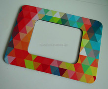 Custom colorful fridge magnet photo frame home decor