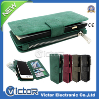 New Design For Multifunction Wallet leather case with Zip For apple iPhone 6 Case With Magnetic and Card Slot