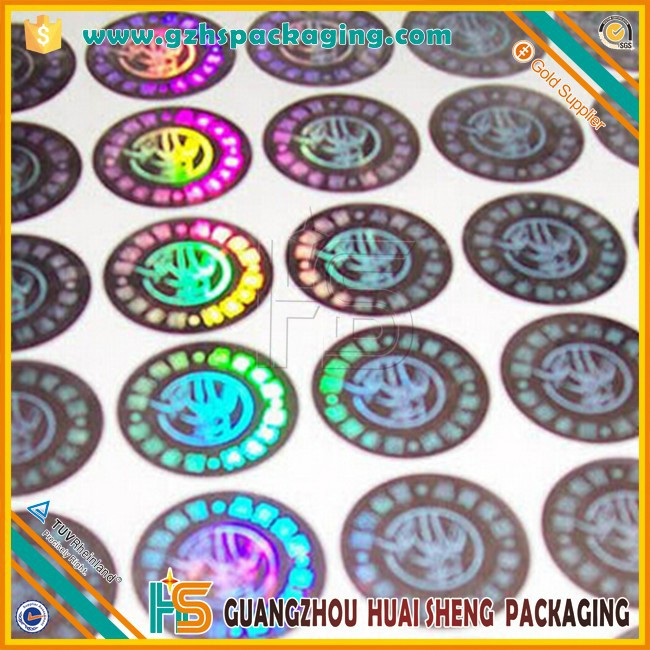 factory price custom printing adhesive round laser qc pass label with high quality