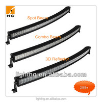 HG-8626-288 288W 50 Inch Curved Led Light Bar Curved Led Light Bar Off Road 4x4 Curved Light Bar