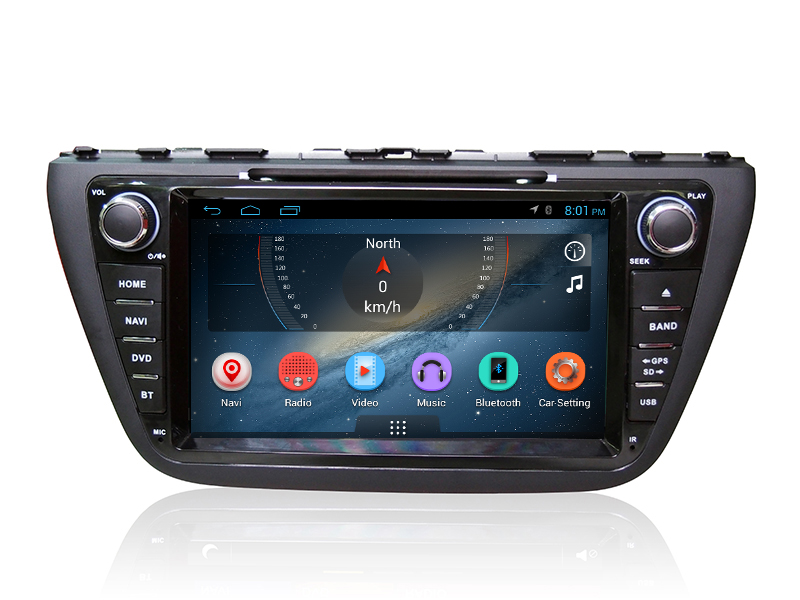 DVD GPS BT A.TV 6.2'' touch screen android car radio 2 din for Suzuki Scross