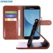 2018 OEM Flip Leather Wallet phone case for Samsung mobile phone J7 Pro