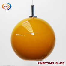 Orange Globe Glass Lamp Shade