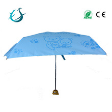 19inch 6K 3 foldable cute design umbrella for kid