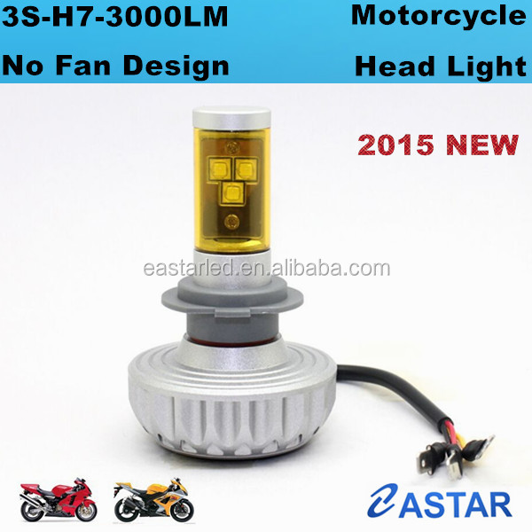 Top 1 sale 12v 3000lm LED lamp motorcyle lights H7