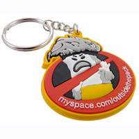 custom wholesale fashion 3d soft pvc keychain