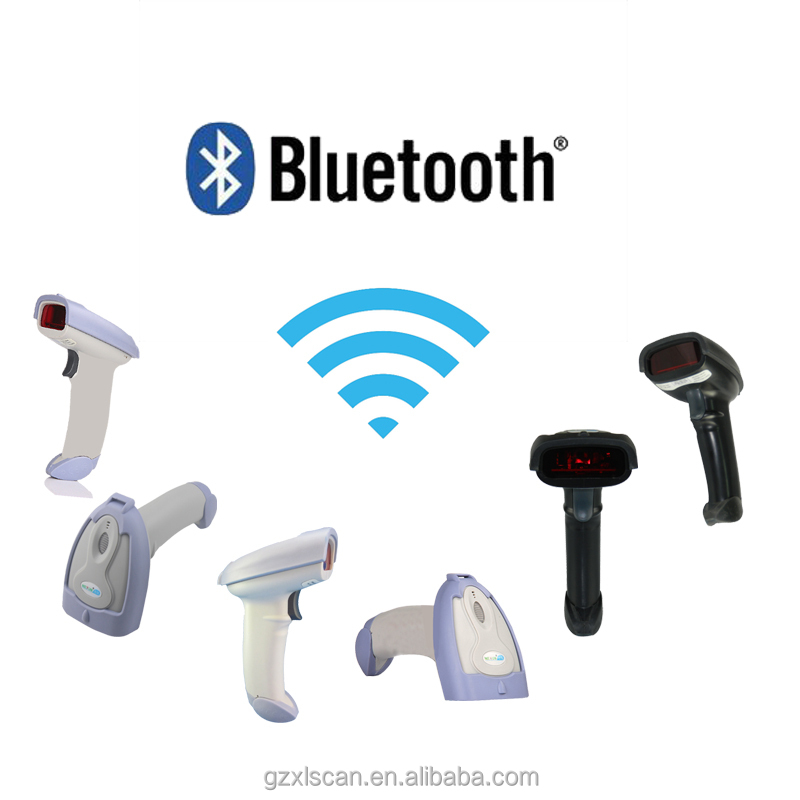 Portable Wireless Bluetooth Barcode Scanner for android ios Bar Code Reader