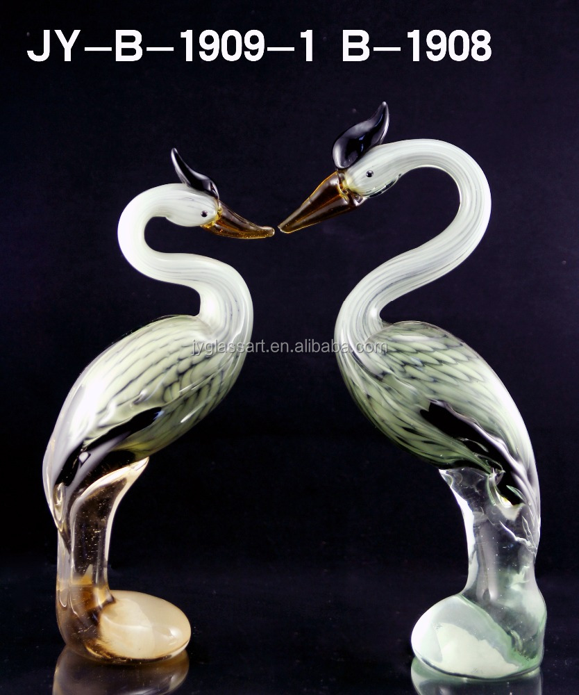 Glass bird figurines