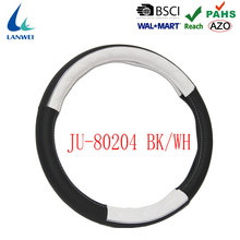JU-80204-BK-WH china car steering wheel covers