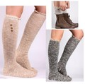 The Original Women's Button Boot Socks With Lace Trim Modern Boho Leg Warmers