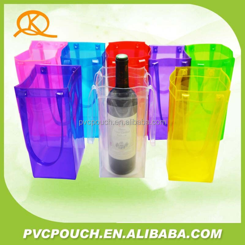 Top quality plastic ice Bottle Cooler Packing pvc plastic ice bag