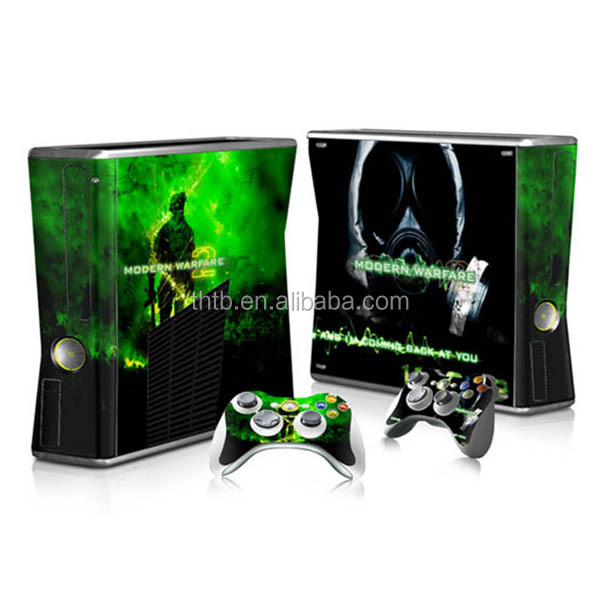 Various design with high quality vinyl decal skin sticker for xbox 360 slim wholesale