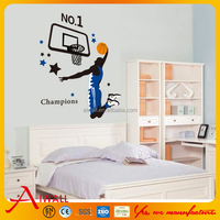 1940 Basketball Player Wall Stickers For Kids Room DIY Home Decorations Champion Wall Decals Boys Girls