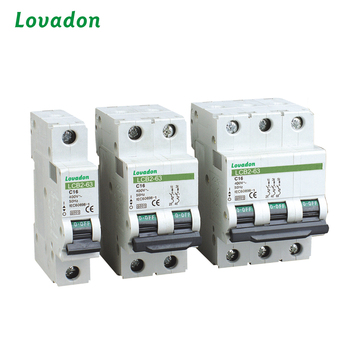 3 Pole LCB2-63 Circuit Breaker MCB / Miniature Circuit Breaker