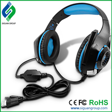 Computer Gaming Headset ecouteur Virtual 7.1 Channel Headband Stereo Game Headphone with Microphone Mic for PC Gamer