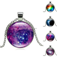 Wholesale globes jewelry necklace silver glass globe pendant necklace