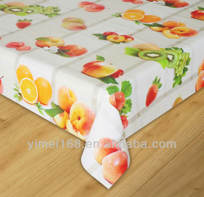 0.20mm width 137cm vinyl table cloth/decorative vinyl tablecloths