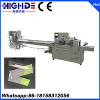 dinner hand wet towel wrapping packaging machine of Wenzhou China
