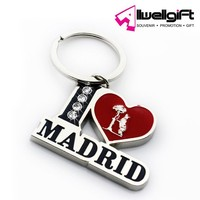 zinc alloy metal type souvenir of spain Madrid souvenir keychain
