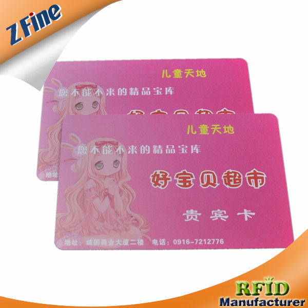 offset preprinted plastic card