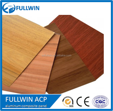 wooden effect aluminum composite panel wall cladding with SGS