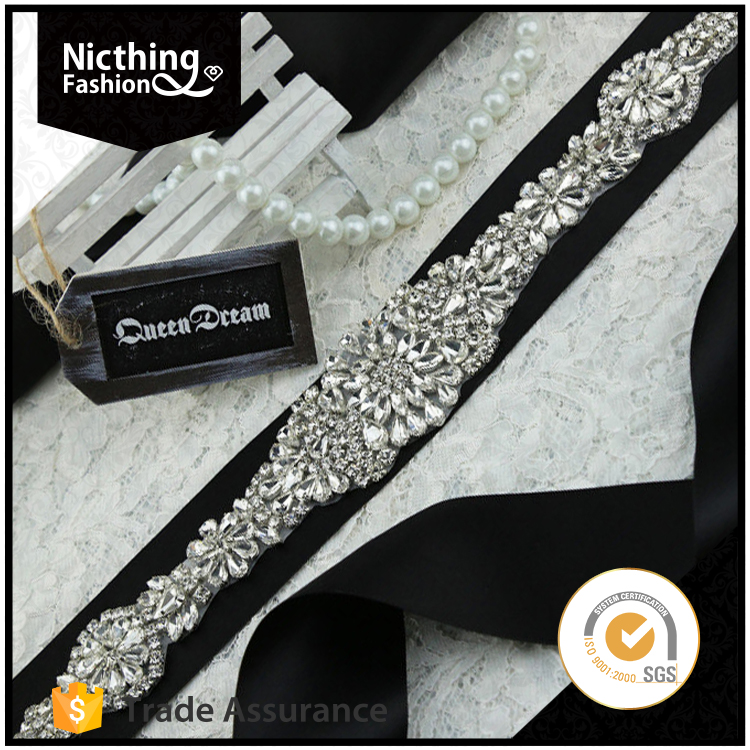 High quality blingbling fashon crystal applique patches with rhinestone NRA117