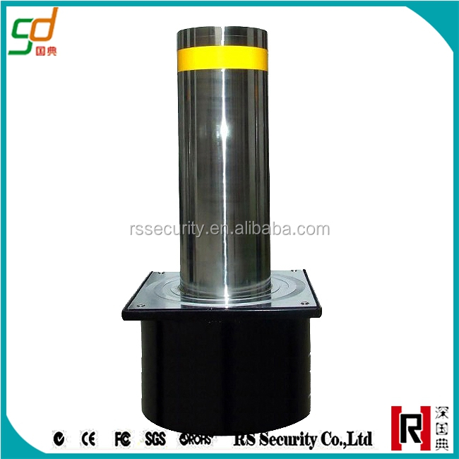 Car access control stainless steel Hydraulic electric parking bollards