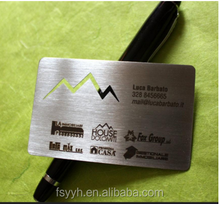 201 etching stainless steel sheet for stainless steel name card