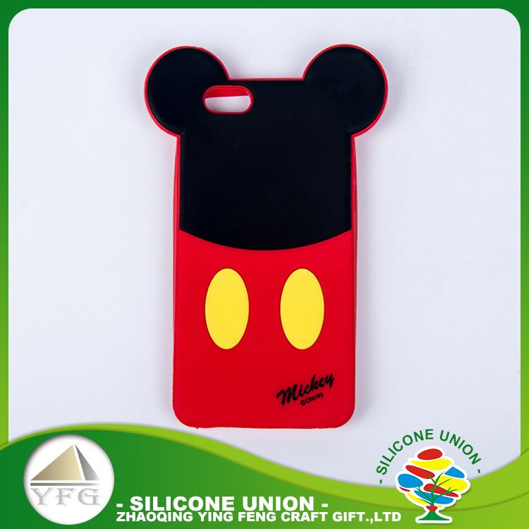 Small amusing logo silicone cell waterproof mobile phone case