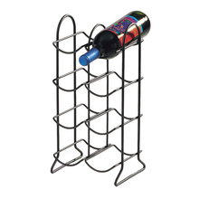 8 Bottles Wrought Iron Counter Top Free Standing Wine Rack