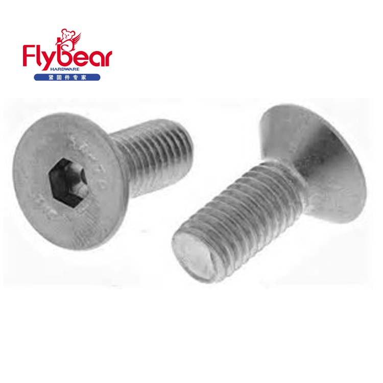 DIN7991 duplex 2507 hexagon socket countersunk head screws M5 M8 M10 good sale machine screws