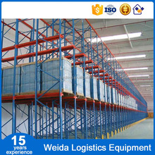 Warehouse storage customized drive in pallet racking system