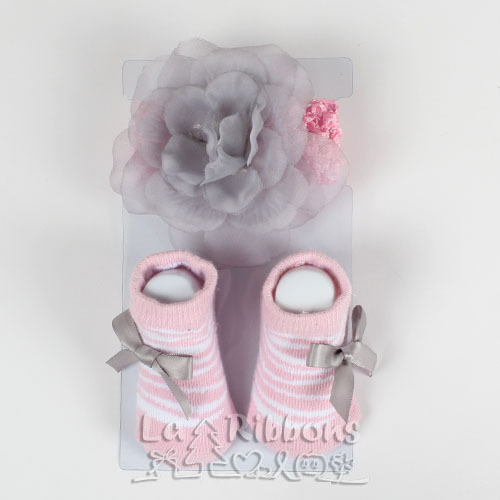 Baby headband & socks,flower headband baby decorations,0-6M infants socks