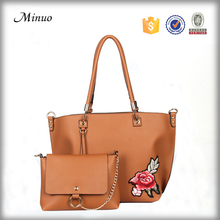 8731-Popular pu leather tote bag High quality handbag wholesale women hand bags