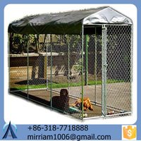 dog use anti-rust galvanized dog kennels cages with roof